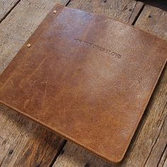 Leather Photo Album Rustic Vintage Paper Goods - Gifts for Him - Holiday Gift Guide 2012