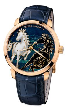 Ulysse Nardin Introduces 2014 with the Classico Horse. – Core Sector Communique home Amazing Watches, Beautiful Watches, Cool Watches, Stylish Watches, Luxury Watches For Men, Ulysse Nardin, Horse Watch, Authentic Watches, Skeleton Watches