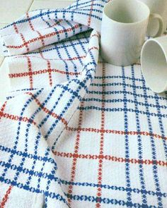 """Rosepath Plaid Dish Towels Weave either three or six generous sized towels (16.5"""" x 34"""") on any 4-shaft, 22"""" wide table or floor loom with a 10 dent reed using our very versatile 8/2 Aurora Earth yarns."""