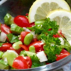 Broad Bean and Tomato Salad @ http://allrecipes.com.au