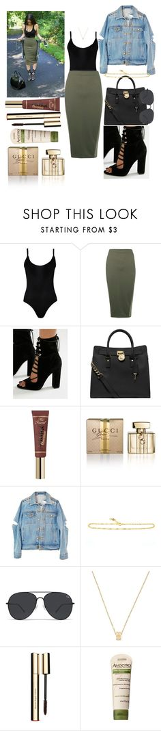 """""""Walk in the Park"""" by azariaaaaaa ❤ liked on Polyvore featuring adidas, WearAll, Boohoo, Kendall + Kylie, MICHAEL Michael Kors, Too Faced Cosmetics, Gucci, Clarins and Aveeno"""