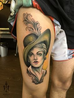 Miss Olivé #neotraditional #tattoos #inked #vintagepotrait #newtattoos #tatts #colors #art