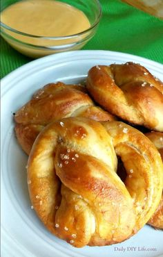An irresistible copycat recipe for Auntie Anne's Pretzels! You won't believe how close to the real thing these are! A perfect chewy, salty anytime snack.
