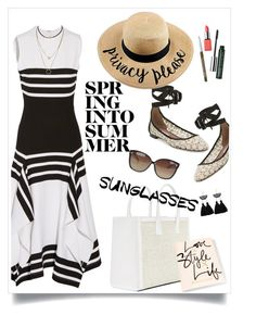 """""""Weekend"""" by hani-bgd ❤ liked on Polyvore featuring Rosetta Getty, Tabitha Simmons, Linda Farrow and Clinique"""