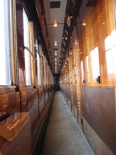 Inside the Orient Express ~ Photo by...Pierre Metivier©. One day I will walk down this hallway :)