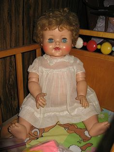 https://flic.kr/p/7CNXfk | Kathy Cry Dolly | About 20 inches tall, 1950s by…