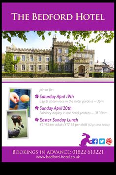 Easter events at the Bedford Hotel