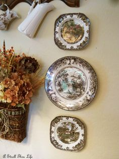 You can use decorative plates matched or mixed to enhance every room of your home. They add interest, and variety when grouped with other artistic objects, over paintings, or above doorways. Try your hand at it and you'll learn to love it.