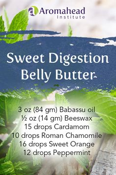 """Have you ever experienced a tight, uncomfortable belly after eating cold foods (like ice cream) in winter?     Cardamom (Ellettaria cardamomum) essential oil is so helpful when you feel bloated because you've eaten a bit too much.    I love Babassu oil (Orbignya oleifera) in this """"Sweet Digestion Belly Butter"""" for its soothing, skin nourishing properties and it makes this a  light body butter that you can rub on your belly and low back."""