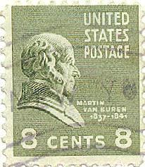 US Stamp - Martin Van Buren 8th US President 1837-1841