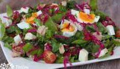 Studený cestovinový šalát - Tinkine recepty Cobb Salad, Food, Essen, Meals, Yemek, Eten
