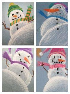 Snowman Perspective Drawing - - Snowman Perspective Drawing Basteln mit Kindern im Winter – Weihnachten Snowman Perspective Drawing Christmas Art Projects, Winter Art Projects, School Art Projects, Arte Elemental, January Art, December, 4th Grade Art, Art Lessons Elementary, Elementary Teaching