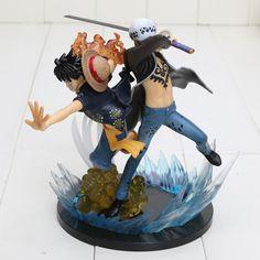 One Piece Monkey D Luffy Trafalgar D Water Law 17cm Toy PVC Figure //Price: $37.00 & FREE Shipping //     #onepieceluffy #onepiecefigure #dluffystore