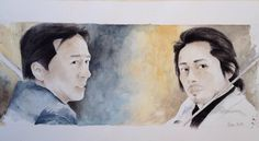 latest work for this year ... we'll see in 2016 ..I wish you to all ...Happy New Year !! Rush Hour 3  #JackieChan #HiroyukiSanada #RushHour3 #watercolor #真田広之