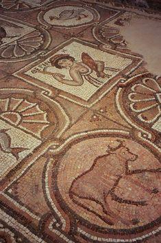 Byzantine mosaic in the Byzantine Church of Petra