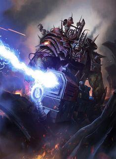 Our Modern Moths Gorzod by Darren Tan Warhammer 40k Art, Warhammer Fantasy, Fantasy Battle, Sci Fi Fantasy, Ork Warboss, Orks 40k, Far Future, Martial, The Grim