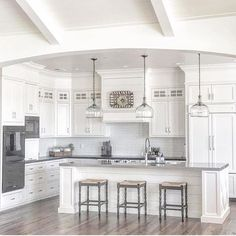 What a great 1st week of Round 2 of #styled2inspire This week's kitchens that everyone shared were simply amazing! This beautiful kitchen of @ourfarmhousefit  is so dreamy and took our breath away. Thank you so much @greyjuniper for sharing! Seriously, though. Love love! ❤️❤️ We will be back next week with a new theme, so stay tuned. Enjoy your weekend!