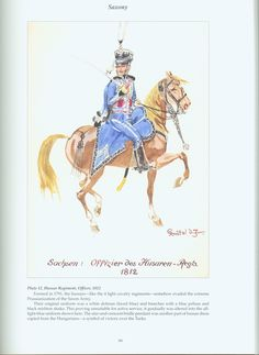 The Confederation of the Rhine - Saxony: Plate 12. Hussar Regiment, Officer, 1812