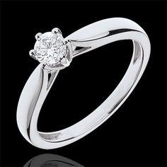 Ring Riet Wit Goud 6 Diamanten klauwen - 0.305 karaat : Edenly juweel Romantic Roses, Ring Verlobung, Healing Stones, Semi Precious Gemstones, Fashion Rings, Wedding Bands, Women Jewelry, Engagement Rings, Jewels