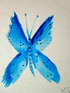 Watercolor Butterfly Painting 5x7 SFA Vivid by TipsyGypsyArtCo