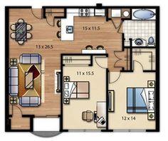 Plano de casa cuadrada [Modelos]   Construye Hogar