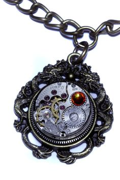 Steampunk Jewelry   NECKLACE  Dragon and by CatherinetteRings, $55.00