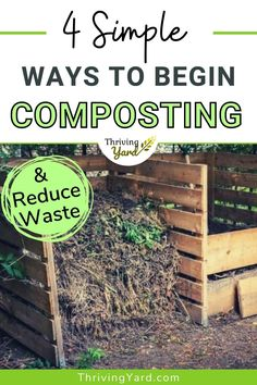 Composting is a healthy soil amendment and has become popular as a way to recycle food scraps and paper waste. We review 4 simple composting methods looking at the size, location, maintenance, and construction (or cost) of each. #composting #compostingmethods #compostingforbeginners #howtocompost #foodscraps Vegetable Garden Design, Garden Soil, Garden Tips, Composting Methods, Worm Composting, Compost Mulch, Types Of Mulch