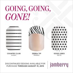 LOVE Country Club and Good Vibes! Sad to see them go! www.laurabecker.jamberrynails.net
