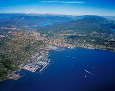 By the Bay Bellingham Western Washington, Bellingham Washington, Usa Cities, Aerial View, Pacific Northwest, North West, Seattle, City Photo, The Neighbourhood