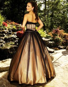White Black And Gold Wedding Dresses 25
