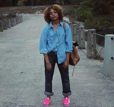 Double Denim…wearing Rock & Republic Jeans #puma #pumastyle