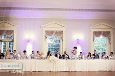 Beautiful Head Table Linen - Kristen Taylor Photography Blog