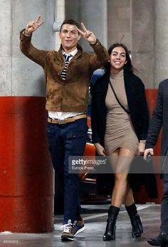 Cristiano Ronaldo and his girlfriend Georgina Rodriguez attending Alejandro Sanz's concert on December 5, 2016 in Madrid, Spain.