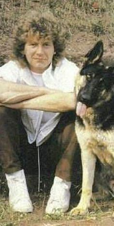 Robert Plant & friend; post Zep but for his love for dogs....