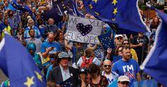 Protesto em Londres pede reforço da relação com UE e adiamento da Brexit