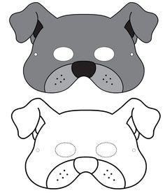 Masque de chien à imprimer