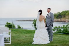 These two are just the sweetest couple. Meg, our lovely bride, wanted one thing...to get married on the beach. The Stage Neck Innat York Harbor Beach, Maine, was able to fulfill that wish for her.