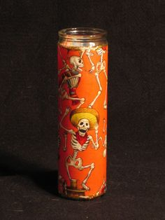 Day of the Dead Dias de los Muertos candle.