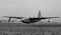 Nov. 2, 1947 The only flight of  Howard Hughes' Spruce Goose.