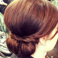 romantic low updo