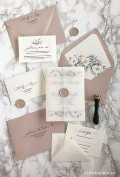Rose Gold Vellum Wedding invitations with the most unique watercolor floral designs! Prefect for spr Rose Gold Vellum Wedding invitations with the most unique watercolor floral designs! Prefect for spr,Einladungen & Karten Related posts:rustikal. Gold Invitations, Unique Wedding Invitations, Floral Invitation, Elegant Wedding Invitations, Wedding Invitation Cards, Wedding Stationery, Wedding Cards, Wedding Songs, Rose Gold Invites