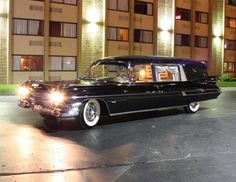 1959 Cadillac S&S Hearse. Maintenance/restoration of old/vintage vehicles: the material for new cogs/casters/gears/pads could be cast polyamide which I (Cast polyamide) can produce. My contact: tatjana.alic@windowslive.com