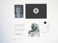 memorial cards with photo portrait - custom made www.sagastudio.nl