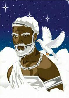 Obatala designed by CoconutCigars Yoruba Orishas, African Mythology, Pagan Gods, American Paint, Spirit Science, Spirited Art, Spirit Animal, Love Art, Sculptures