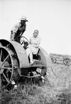Vintage farming in Indiana
