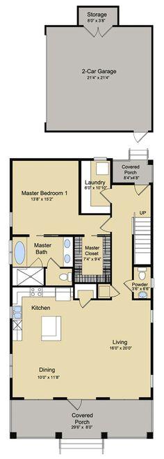 Beach Style House Plan - 4 Beds 4.5 Baths 2888 Sq/Ft Plan #430-120 Floor Plan - Main Floor Plan - Houseplans.com