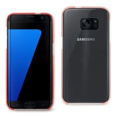 Reiko Samsung Galaxy S7 Edge Transparent Tpu Bumper Case Clear Red