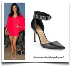 Celebs in Pumps. New Blog Post. Victoria Justice is wearing the BCBGMAXAZRIA Peter Studded-Strap Leather Pumps, from $206 USD.