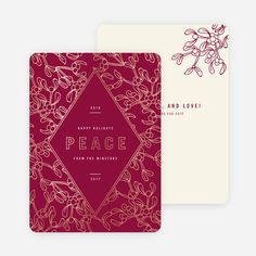 Foil Holly Accents Holiday Cards from Paper Culture