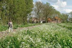 Beesd, landgoed Marienwaerdt, zicht op hoeve De Hoge Sluis, Appeldijk 1